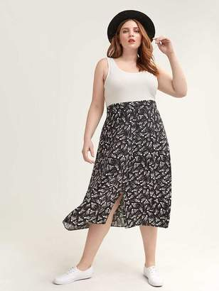 Long A-Line Skirt with Print