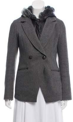Elizabeth and James Hooded Fur-Trimmed Jacket