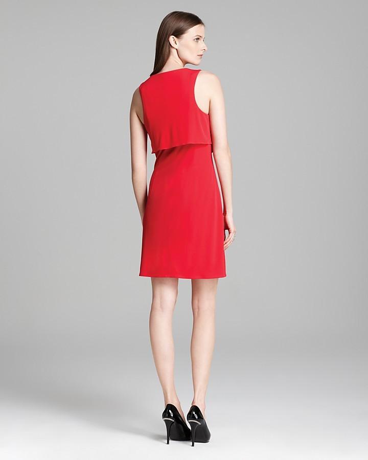 Laundry by Shelli Segal Jersey Dress - Zip Front Double Cascade