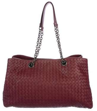 Bottega Veneta Intrecciato Medium Double Chain Tote