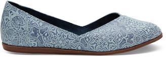 Blue Mosaic Tile Print Suede Women's Jutti Flats $84.95 thestylecure.com