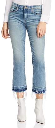 Blank NYC BLANKNYC Kick High-Rise Layered-Hem Flared Jeans in The Plastics