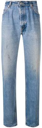 RE/DONE straight leg pleated jeans