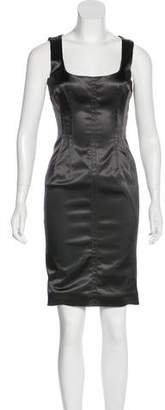 Dolce & Gabbana Satin Bodycon Dress