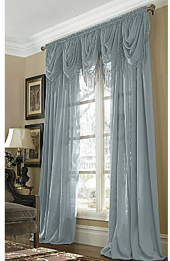 JCPenney Home Snow Voile Rod-Pocket Semi-Sheer Panel