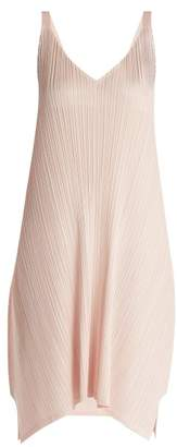 Pleats Please Issey Miyake Pleated Tie Back Dress - Womens - Light Pink
