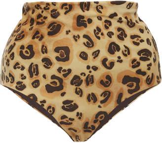 Mara Hoffman Lydia High-Waisted Leopard-Print Bikini Briefs Size: XS