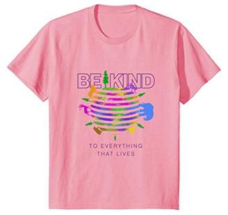 Be Kind To Everything That Lives World Watercolor T-Shirt