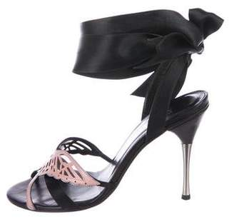 Alexander McQueen Embellished Ankle-Strap Sandals