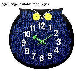 Omar the Owl Wall Clock