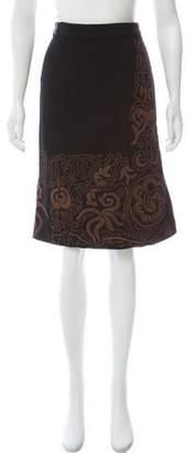 Etro Wool-Blend A-Line Skirt