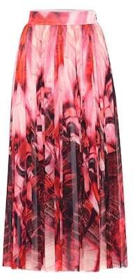Alexander McQueen Butterfly-printed crêpe skirt