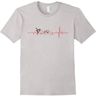 Music Staff Heartbeat Music Notes Love Heart T-Shirt