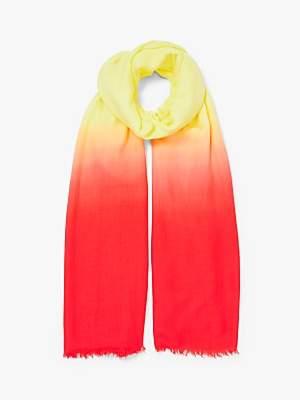 John Lewis & Partners Dip Dye Modal Fiesta Scarf, Banana/Orange