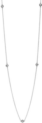 Pandora Silver & Clear Cz Dazzling Dainty Droplets Necklace