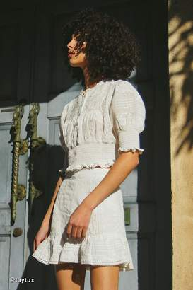 Urban Outfitters Victorian Smocked Eyelet Blouse