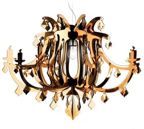 Slamp Ginetta Gold Suspension Light