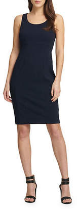DKNY Sleeveless Stitch Detail Sheath Dress