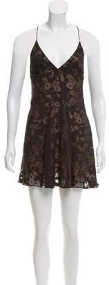 Stella McCartney Devoré A-Line Mini Dress