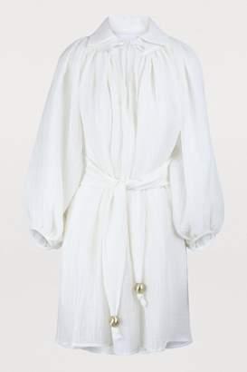Lisa Marie Fernandez Poet linen mini dress