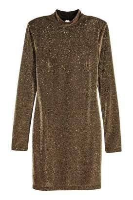 H&M Glittery Dress - Black/glittery - Women