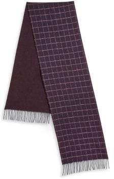 Saks Fifth Avenue COLLECTION BY JOHNSTONS Grid Scarf