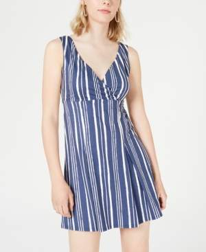 City Studios Juniors' Striped Surplice Dress