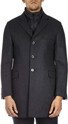 Fay Antrachite Double Coat Wool Jacket
