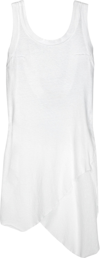 Bassike Slouch V-back organic cotton top