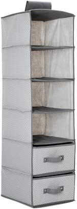 Delta Children 6 Shelf Hanging Wall Storage with 2 Drawers