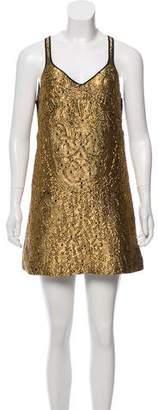 No.21 No. 21 Sleeveless Metallic Knee-Length Dress