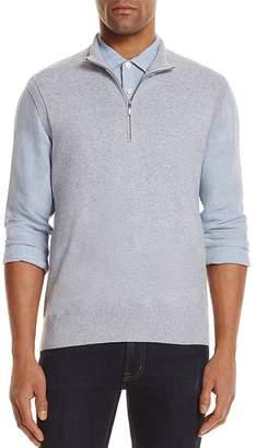 AG Green Label Voss Cashmere Blend Half-Zip Sweater Vest $158 thestylecure.com