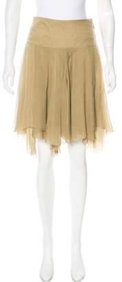 Ralph Lauren Silk Knee-Length Skirt
