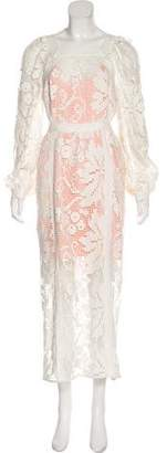 Alice McCall Embroidered Maxi Dress
