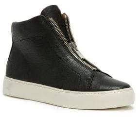 Frye Lena Leather High-Top Sneakers