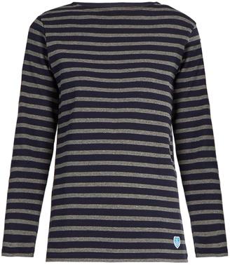 ORCIVAL Breton-striped cotton top $71 thestylecure.com