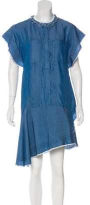 3.1 Phillip Lim Denim Knee-Length Dress