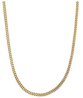Men's Men's 3.1MM Franco Square Box Chain Necklace in 14K Solid Gold - 18""