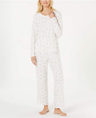 Charter Club Printed Thermal Fleece Pajama Set