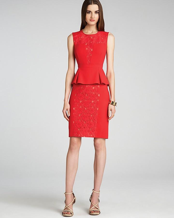 BCBGMAXAZRIA Dress - Ives Lace Peplum
