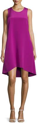 3.1 Phillip Lim Sleeveless Ruffle-Trim Silk Shift Dress, Magenta