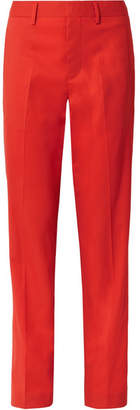 Dion Lee Wool Straight-leg Pants - Red