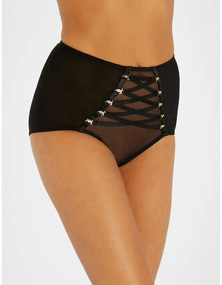 MeDusa Coco De Mer mesh high-waisted briefs