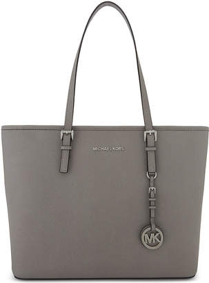 MICHAEL Michael Kors Michael Kors Ladies Grey Timeless Jet Set Travel Leather Tote