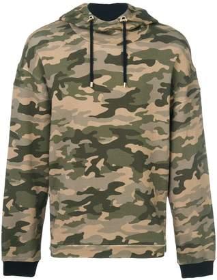 Balmain camouflage print hoodie