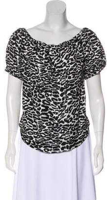 Piamita Off-The-Shoulder Animal-Print Blouse