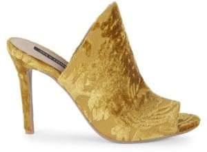 Ava & Aiden Open Toe Velvet Stiletto Sandals