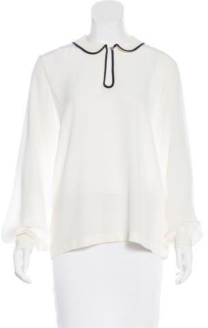 Kate Spade New York Silk Long Sleeve Blouse w/ Tags