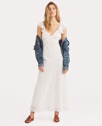 Ralph Lauren Eyelet Cotton Open-Back Dress