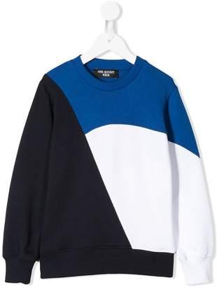 Neil Barrett Kids colour block sweatshirt